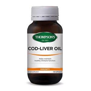 thompsons cod liver oil 100 capsules