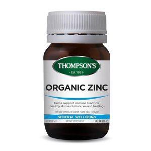 thompsons organic zinc 80 tablets