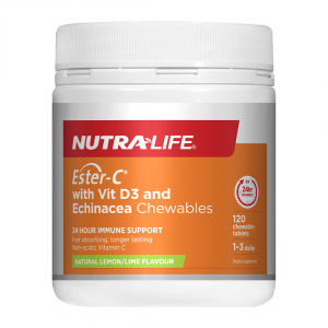 NL Ester C with Vit D3 and Echinacea chews 120