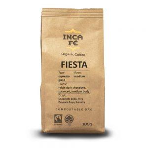 IncaFe Organic Coffee Fiesta Espresso Grind 200g