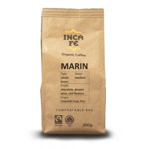 IncaFe Organic Coffee Marin Whole Beans 200g