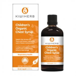Kiwiherb Childrens Organic Chest Syrup 1