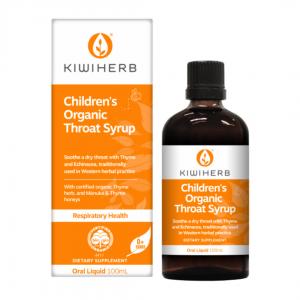 Kiwiherb Childrens organic throat formula