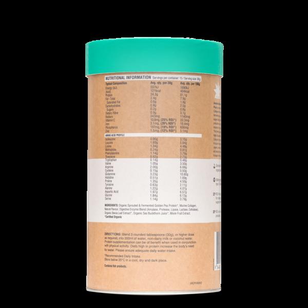 Raw Protein Collagen Plus Maple Vanilla BACK