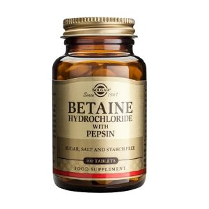 Solgar Betaine Hydrochloride 100tabs