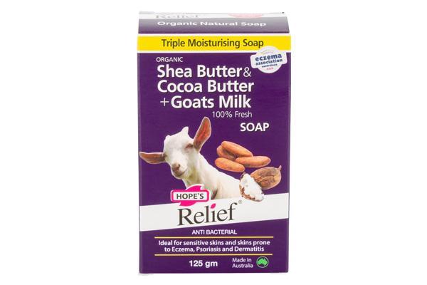 Hope sReliefShea Cocoa Butter Goats Milk Soap
