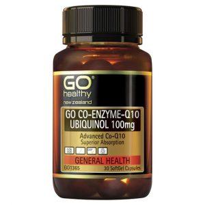 GO Co Enzyme Q10 Ubiquinol 100mg 30 Caps 1
