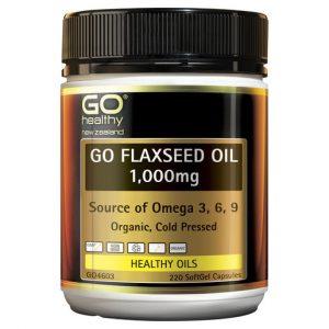 GO Flaxseed Oil 1000mg Organic 220 Caps 1