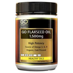 GO Flaxseed Oil 1500mg Organic 210 Caps 1