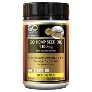 GO Hemp Seed Oil 1100mg New Zealand Grown 100 Caps 1