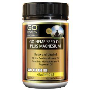 GO Hemp Seed Oil Plus Magnesium 100 Caps 1