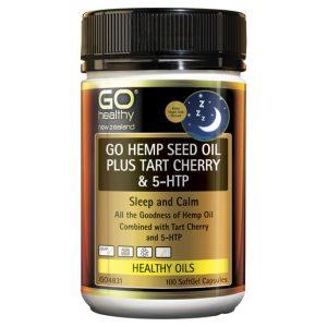 GO Hemp Seed Oil Plus Tart Cherry 5HTP 100 Caps 1