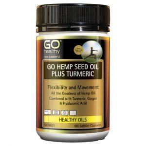 GO Hemp Seed Oil Plus Turmeric 100 Caps 1