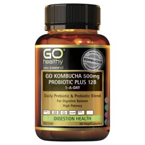 GO Kombucha 500mg Probiotic Plus 12B 60 VCaps 1