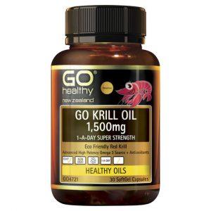 GO Krill Oil 1500mg 1 A Day 30 Caps 1
