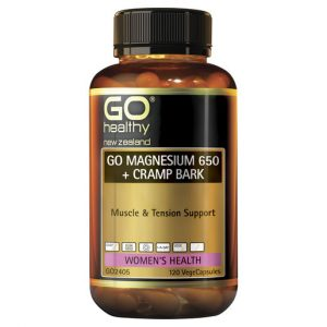 GO Magnesium 650 Cramp Bark 120 VCaps 1