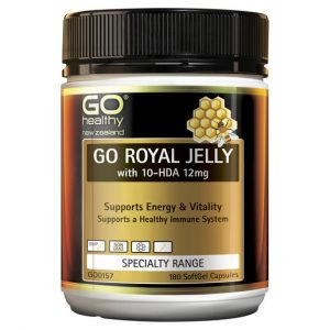 GO Royal Jelly with 10 HDA 12mg 180 Caps 1