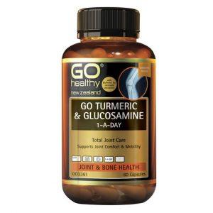 GO Turmeric Glucosamine 1 A Day 60 Caps 1
