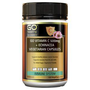 GO Vitamin C 500mg Echinacea Vegetarian Capsules 100 VCaps 1