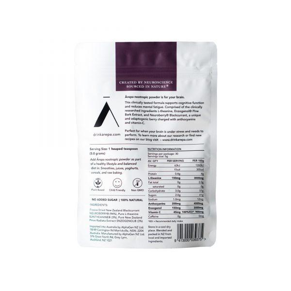 AREPA Nootropic Powder Back