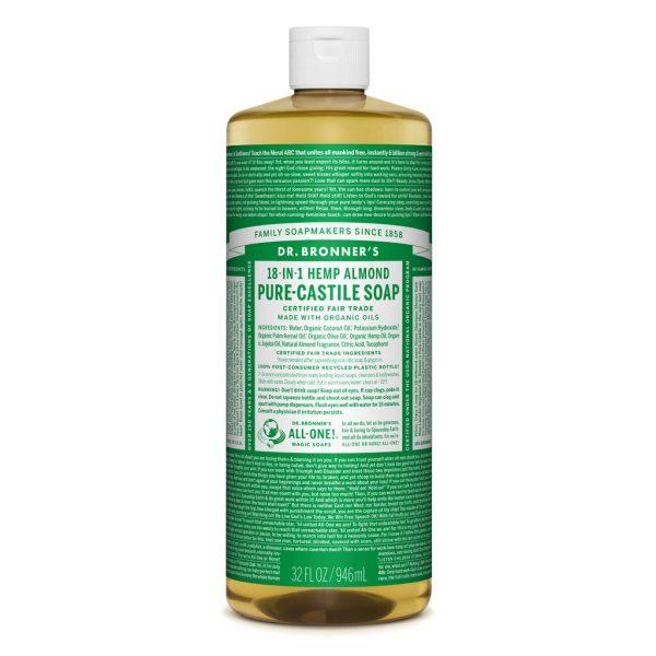 Dr Bronner Liquid Soap 946ml Almond