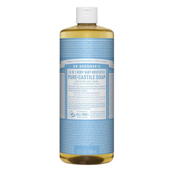 Dr Bronner Liquid Soap 946ml Baby Unscented