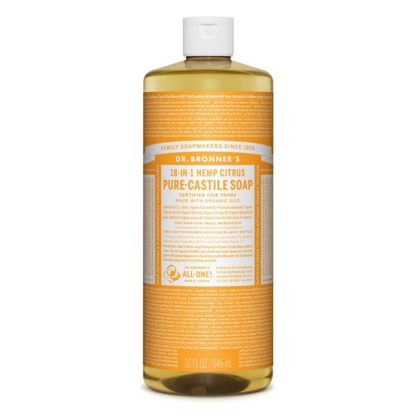 Dr Bronner Liquid Soap 946ml Citrus