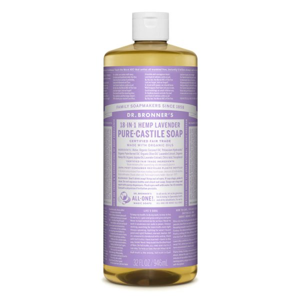 Dr Bronner Liquid Soap 946ml Lavender