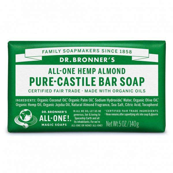 DrBronnerBar Soap 140g Almond