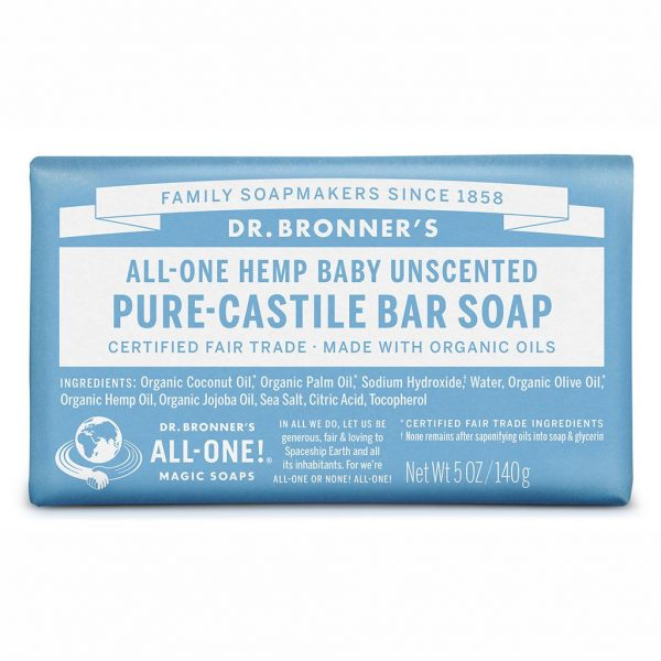 DrBronnerBar Soap 140g Baby Unscented