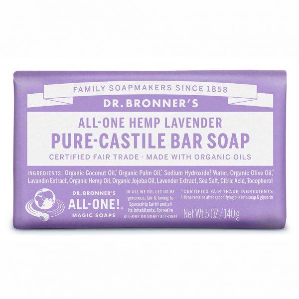 DrBronnerBar Soap 140g Lavender