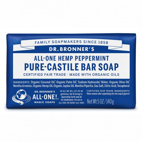DrBronnerBar Soap 140g Peppermint
