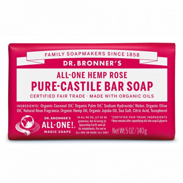 DrBronnerBar Soap 140g Rose