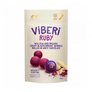 Viberi RUBY White choc rolled blackcurrants