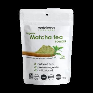 Matakana Superfoods Organic Matcha Tea Powder 100g Front Transparent