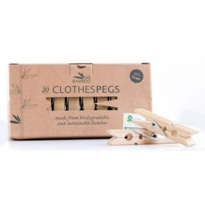 GO bamboo clothes pegs pack of 20