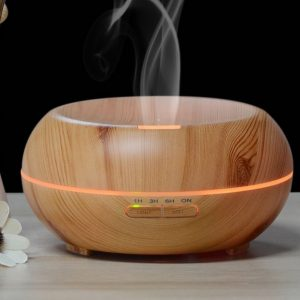 Ultrasonic Essential Oil Diffuser Light wood hollow